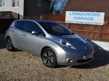 2015 15 NISSAN LEAF E (24KWH) TEKNA STEEL GREY FULLY ELECTRIC