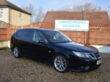 2008 Saab 9-3 Vector sport wagon black manual leather diesel