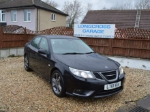 2010 SAAB 9-3 2.8 TURBO XWD AUTOMATIC BLACK WITH BLACK LEATHER