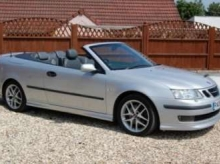 2005 05 SAAB 9-3 AERO CONVERTIBLE FINISHED IN SILVER WITH GREY LEATHER 6 SPEED
