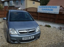 2009 09 VAUXHALL MERIVA 1.6 PETROL CLUB 5 DOOR MANUAL