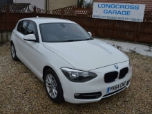 2014 BMW 1 SERIES 116D SPORT EFFICIENT DYNAMICS 5 DOOR WHITE MANUAL