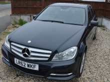 2012 MERCEDES BENZ C 200 CDI BLUEEFFICIENCY AUTOMATIC SALOON BLACK
